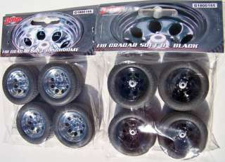 18 GMP Street Black And Chrome Cragar Wheel Tire Sets