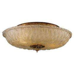 Flush Mount Ceiling Light Fixture In Antique Gold Leaf Finish