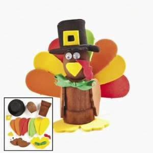 com Foam & Wooden Turkey Flowerpot Craft Kit   Craft Kits & Projects