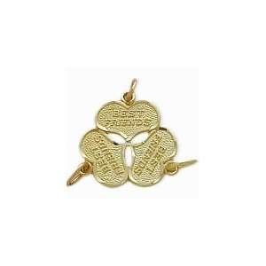 10 Karat Yellow Gold BEST FRIENDS Three Way Heart Charm