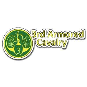 United States Army 3rd Armored Cavalry Division Decal Bumper Sticker 8