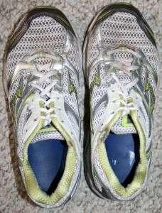 Size 8 Mizuno white gray & yellow womens athletic running shoes