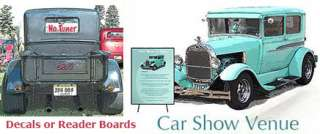 Car Show Display Sign READER BOARD LARGE Custom Art