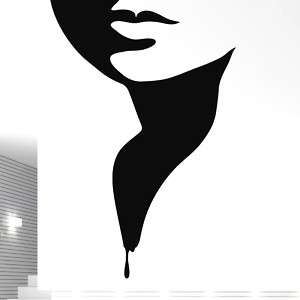 Wall Stickers Vinyl Art Decal nice woman face shadow