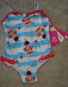 Small Paul Frank Julius Girls Bathing Swimsuit 24M NWT