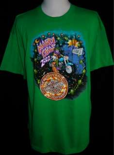 This auction is for a New Harley Davidson New Orleans Green T Shirt