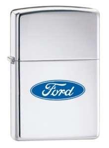 Ford Oval Zippo Lighter Blue Logo Car Mustang Chrome
