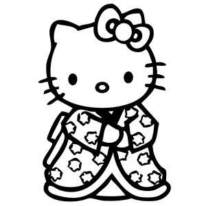Hello Kitty Geisha Kimono Vinyl Sticker Decal Cute Sanrio JDM Choose
