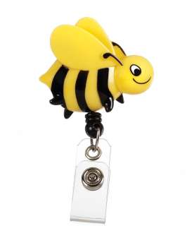 DESIGNER RETRACTABLE ID / BADGE HOLDER   Bumble Bee / Yellow Jacket