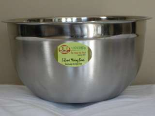 QT STAINLESS STEEL DEEP GERMAN STYLE MIXING BOWL