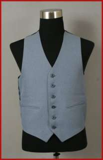 MENS MEDIUM BLUE DRESS SUIT VEST 38
