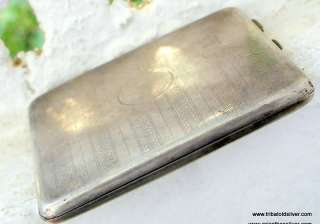 RARE VINTAGE ANTIQUE ENGLISH STERLING SILVER Cigarette Case