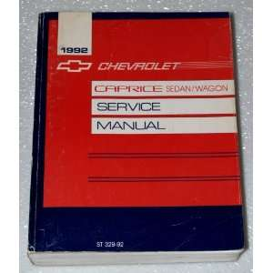1992 Chevrolet Capric Sedan, Wagon Service Manual: General Motors