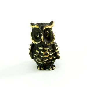 Walter Bosse Brass Eagle Owl Figurine