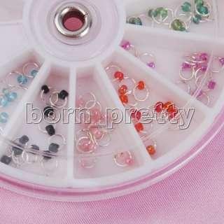 Pearl Nail art Dangle Ring w/ Bead Charming Nail art Decoration