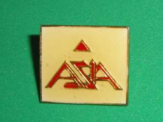 ASIA Tour Post Pin Badge Enamel Metal Rock Vintage 80s
