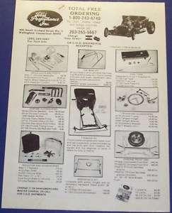 1982 TOTAL PERFORMANCE KIT CAR T BUCKET BUILDER AD ART