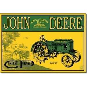 John Deere Model GP Tin Sign by Desperate Enterprises: Home & Kitchen