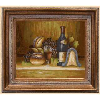 Reproduction Oil Painting   Cuisine Fruit and Wine with Mediterranean