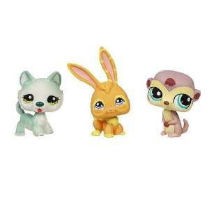 Pet Shop 3 Pack Bobble Head Pet Figure Set   Bunny (#1565), Meerkat