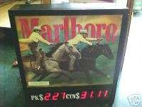 Old Marlboro Cowboy Lighted Cigarette Sign Display WOW