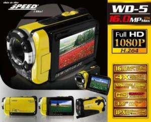SPEED WD 5 Water proof DV Camera 3 TFT LCD Displ. 169