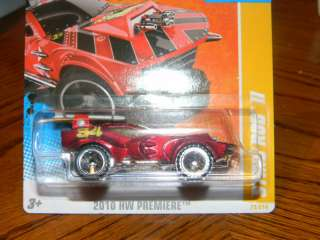 HOT WHEELS 2010 HW PREMIERE #23 STING ROD II HOTWHEELS RED
