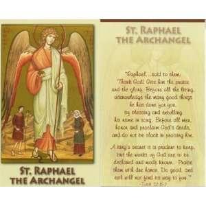 Saint/St. Raphael the Archangel Holy Prayer Card