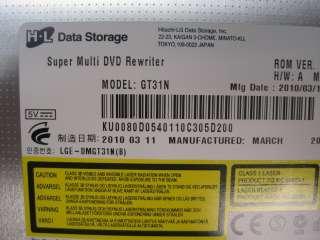 Acer Aspire 5334 2581 SATA DVD Dual layer burner GT31N