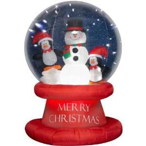 Gemmy 6 Foot Inflatable LED Lighted Penguin Snow Globe