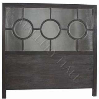Antique Black Headboard Hand Carved Mirror Back Panel |