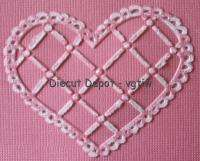 SIZZiX LATTICE HEART Embossing Folder Fit Cuttlebug