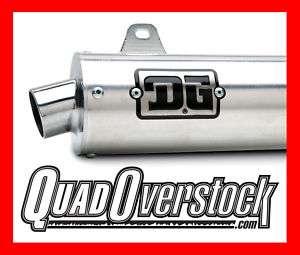 DG R Series Slip On Exhaust, Pipe, Silencer, Yamaha Raptor 700, DG 02