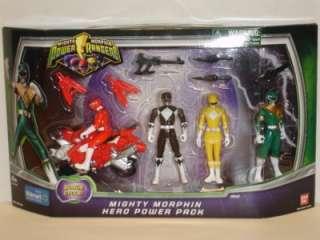 NEW**POWER RANGERS~MIGHTY MORPHIN HERO POWER PACK~4 FIGURE SET~bandai