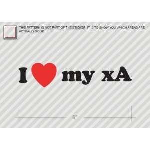 I Love my xA   Scion   Sticker   Decal   Die Cut Vinyl