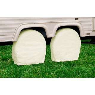 Classic Accessories RV Wheel Covers 24 to 26.5 Wheel Diameter, White