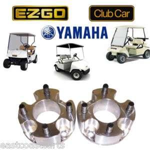 Golf Cart 3 Wheel Spacers (2) EZGO, Club Car, Yamaha