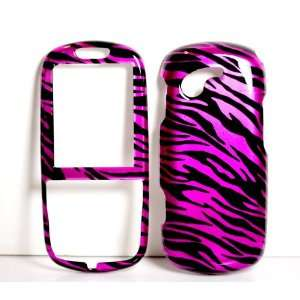 Hot Pink Zebra Strips Snap on Hard Protective Cover Case