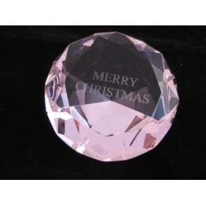 Shaped Paperweight 4 Inches Engrave With Merry Christmas (100 MM