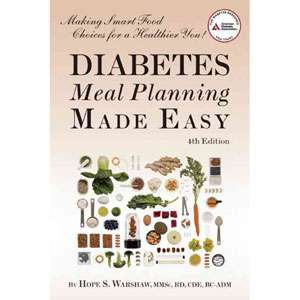 Diabetes Meal Planning Made Easy, Warshaw, Hope S
