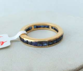 Fabulous 14 K yellow Gold Blue sapphire Gemstone Ring
