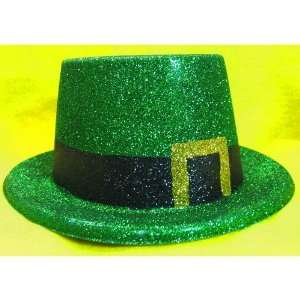 St Patricks Day Green Glitter Hats Case of 12