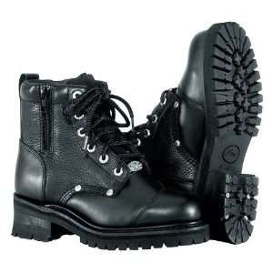 River Road Womens Double Zipper Field Motorcycle Boots