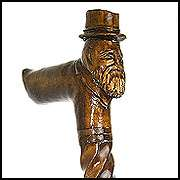 FOX   Gorgeous Hand Carved Wooden Cane Walking Stick
