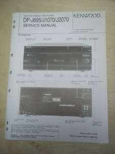 Kenwood Service Manual~DP J695/J1070/J2070 CD Compact Disc Player