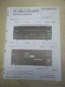 Kenwood Service Manual~DP J695/J1070/J2070 CD Compact Disc Player