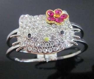 Great Quality HELLO KITTY Bracelet Bangle FLOWER Z9