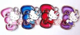 50 Pcs bowknot hello kitty Charm Metal Pendant jewelry Make Gift