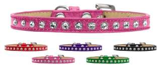 Crystal 1 Row Ice Cream Pet Dog Collar