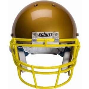 Gold Reinforced Oral Protection (ROPO) Full Cage Football Helmet Face